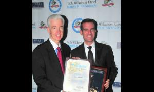 Former Governor Gray Davis with honoree Eric Garcetti