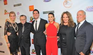 (l to r) Shawn & Larry King, Josh Taylor & Andi Dorfman, Catherine Bach, and Peter R. Repovich.
