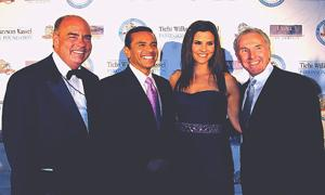 Arthur Kassel, Mayor Villaraigosa, LuParker and Frank McCourt