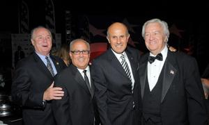 Councilmember Tom Labonge, Peter Repovich, Sheriff Lee Baca and Ron Masak