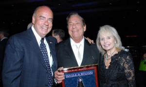 Arthur M. Kassel, Pres/CEO of Eagle & Badge Foundation; Donald T. Sterling, Chairman - E&B Board of Governors, and Shelly Sterling.